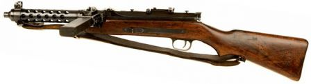 Steyr MP-34 submachine gun, left side.