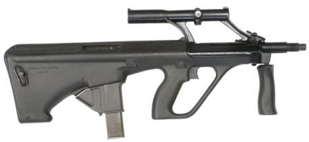 Steyr AUG A1 Para 9mm submachine gun, original version.