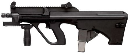 Steyr AUG A3 XS 9mm submachine gun.
