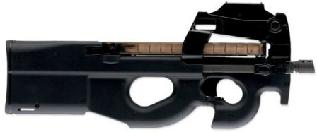 FN P90 personal defense weapon / submachine gun in basic configuration, right side.