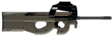 FN PS90 - a civilian semi-automatic only version of P90 with long barrel.
