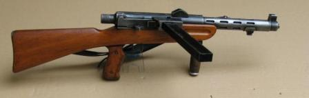 W+F MP 41/44 Furrer submachine gun, right side.