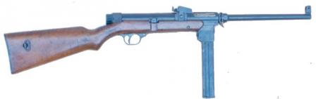 Orita M1941 submachine gun.