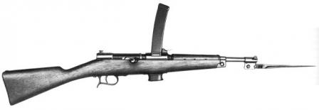 Beretta M1918 submachine gun.