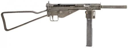 MP 3008 submachine gun, version with skeletonized butt.