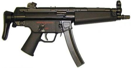 HK MP-5N. Modern version developed for US Navy. Features plastic trigger group of latest design, with ambidextrous selector lever and
