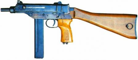 Scorpion SA Vz 68 - a rare version of the basic submachine gun produced forinfantry use, chambered for 9x19 ammunition.