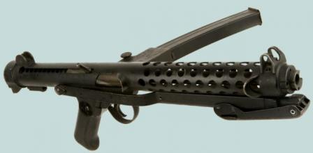 Sterling L2A3 / Mk.4 submachine gun, right side.