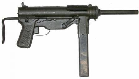 M3 submachine gun, right side view.