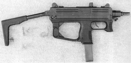 Ruger MP9 submachine gunwith buttstock in combat position.