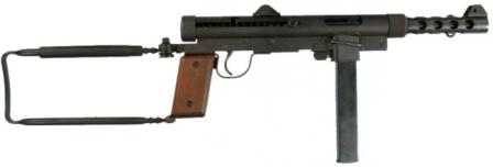Original Carl Gustaf Kpist M/45 submachine gun with detachable magazine housing.
