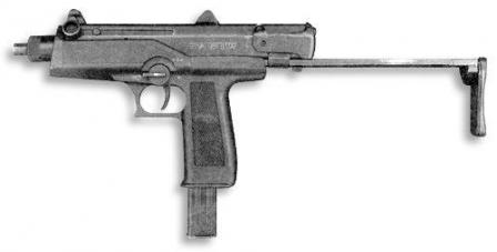 AEK-919K, left side view, with stock extended.