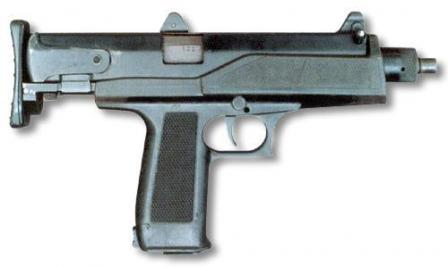 AEK-919K, rigjht side view, with stock collapsed.