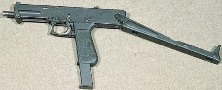 PP-93 submachine gun with open (unfolded) buttstock.