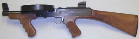 American-180 submachine gun, short barreled version.