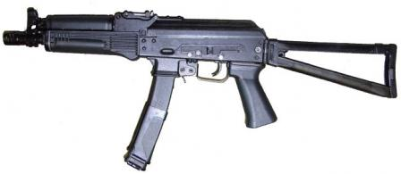 "PP-19-01 ""Vityaz"" submachine gun, left side."