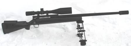Lobaev SVL single shot long range sniper rifle in .408 Chey-tac.