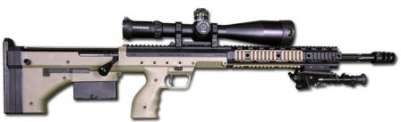 Desert Tactical Arms Stealth Recon Scout (SRS) sniper rifle, caliber .308 / 7.62x51.