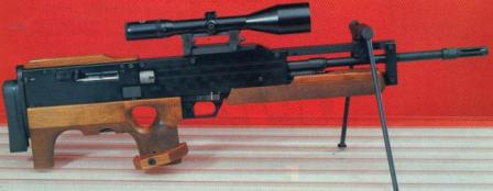 Walther WA 2000sniper rifle, with slightly different stock and shorter frame around the barrel.