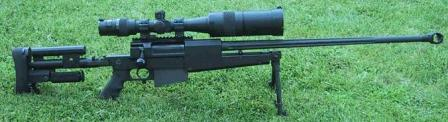 PGM Mini-Hecate .338 Lapua (shown with US Optics X1.7-22 variable MilSpec scope).