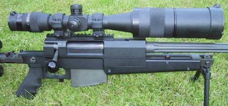PGM Mini-Hecate .338 - view on the receiver.