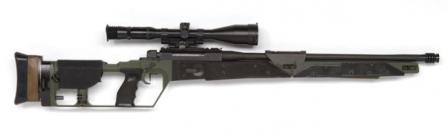Mauser SR-93 sniperrifle as used by Dutch police. Note that bolt handle is set for left-hand operation.