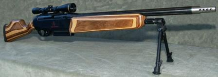 VR1 sniper rifle with laminated wood stock.