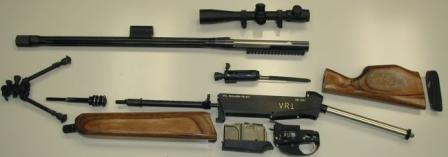 VR1 sniper rifle partially disassembled.