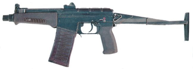 SR-3 Vikhr compact assault rifle, shoulder stock extended.