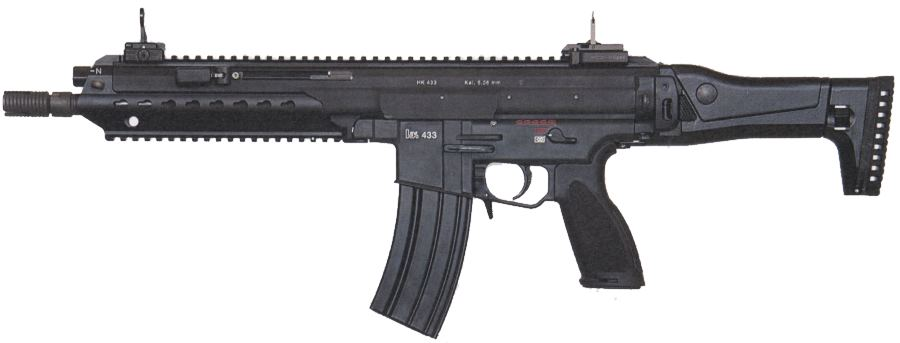 H&K 433 modular assault rifle (black finish, left side)