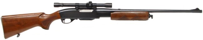 Remington model 760 pump-action rifle, predecessor to Model 7600.
