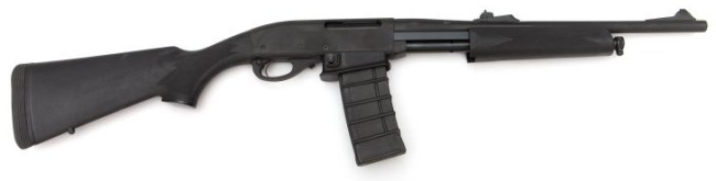 Remington model 7615 Police / Patrol carbine, with 30-round AR-15 type magazine.