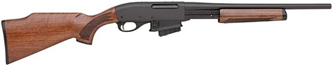 Remington model 7615 'Ranch' rifle / carbine; note the lack of iron sights and short barrel.