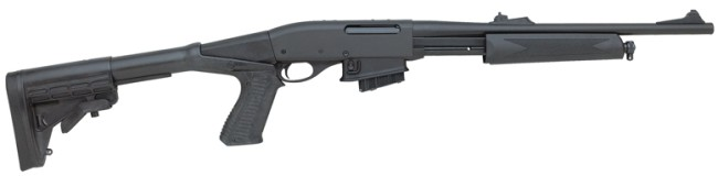 Remington model 7615 Tactical carbine with adjustable telescopic stock and pistol grip.