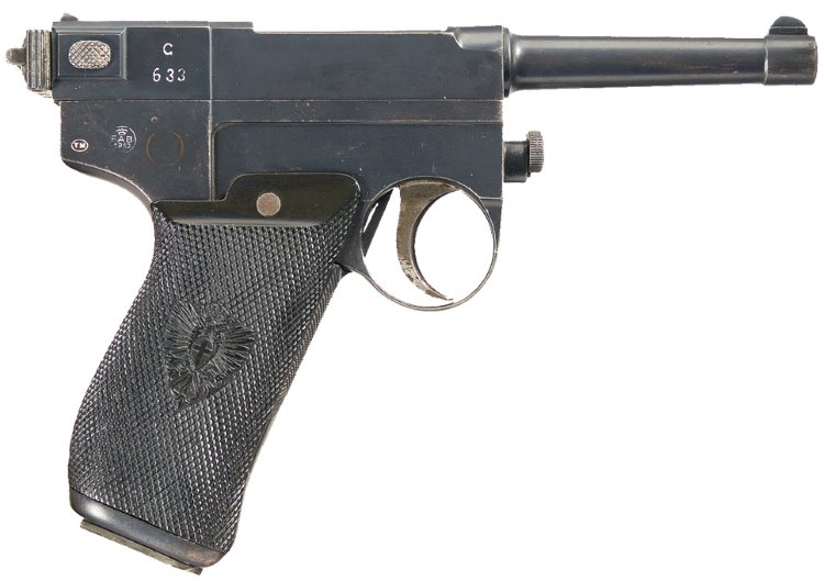 Glisenti M1910 pistol - right side