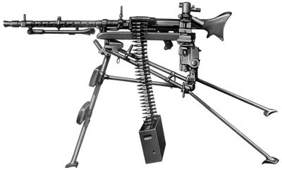 MG-34 as a medium gun, on tripod