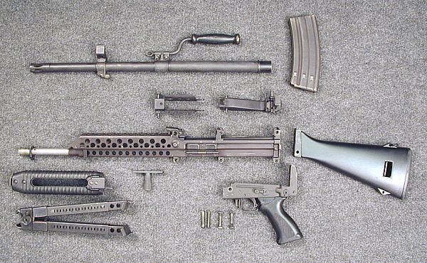 Stoner 63 modern firearms stoner 63a weapon in magazine fed light machine gun partially disassembled altavistaventures Image collections