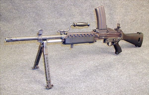 Stoner 63 modern firearms stoner 63a weapon in magazine fed light machine gun configuration with longer and heavier altavistaventures Image collections