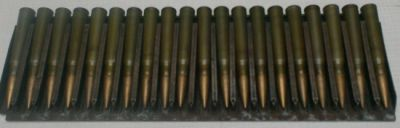 Loaded 20-round cartridge 'cassette' or strip for the Breda M1937 machine gun.