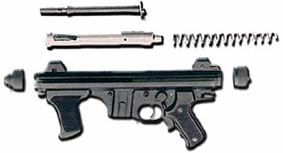 Beretta PM 12S partially disassembled.