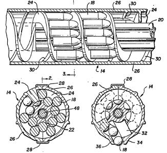 Drawing from original patent, protecting the large-capacity magazine for 9mmCalico firearms (.22LR magazines were of slightly different design and thus wereprotected by another patent).