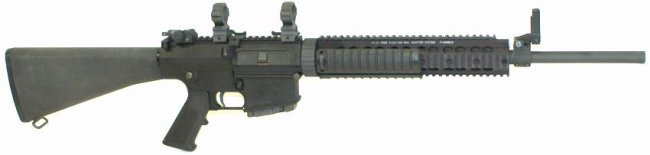 Knights SR-25 rifle, civilian version with 20 barrel.