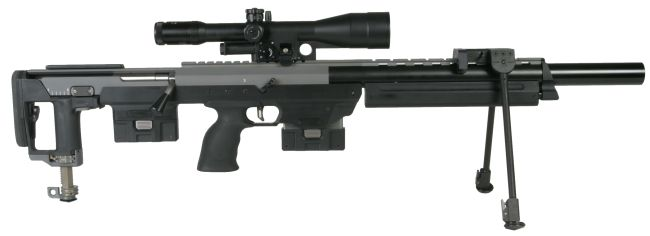The DSR-1 'Subsonic' sniper rifle in integrally silenced configuration.