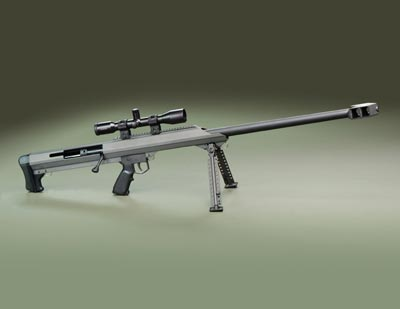 Barrett M99 rifle.