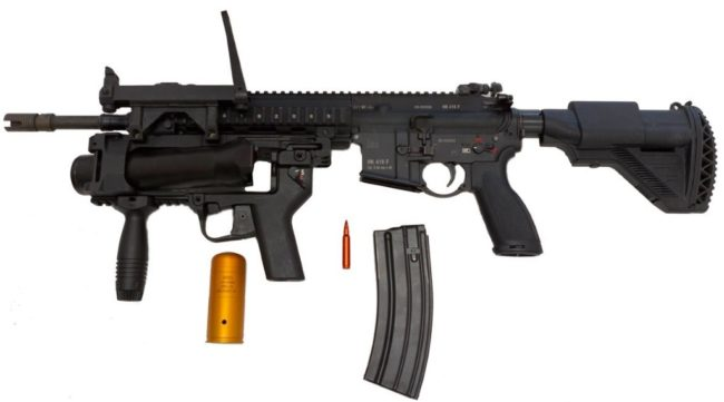 HK 416F assault rifle
