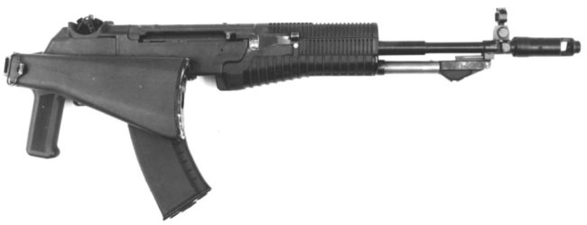 AN-94 rifle with folded stock