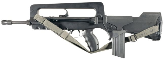 FAMAS F1 rifle, left side view