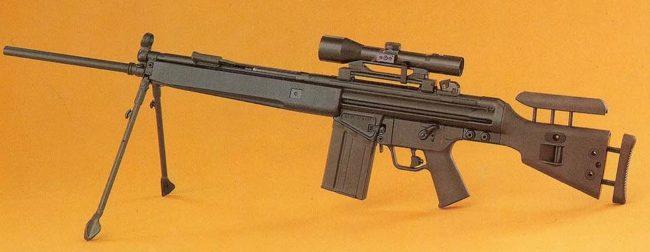 HK MSG3 sniper rifle