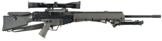 HK MSG90 sniper rifle