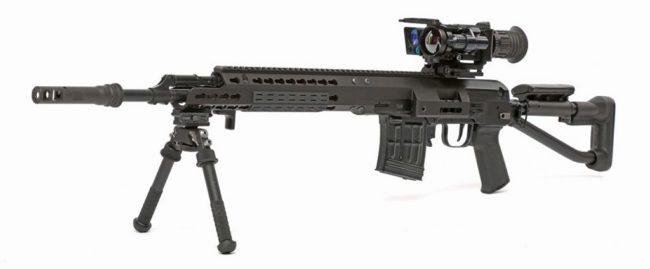 SVDS rifle with SAG Freefloat chassis installed